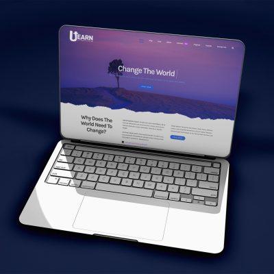 Utearn - Home Page Laptop - website design