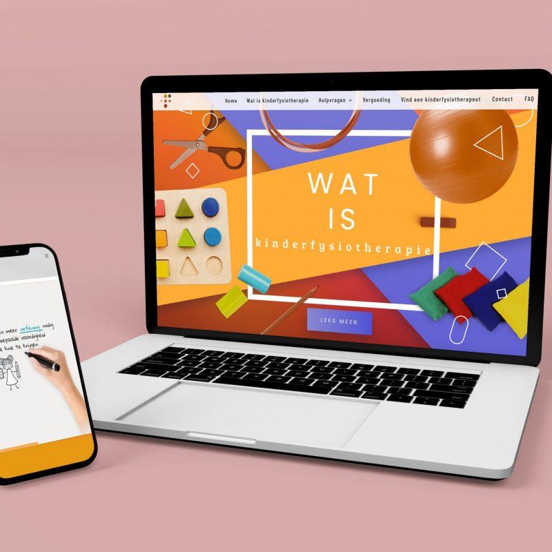 NVFK - Home Page Laptop + Phone - website design